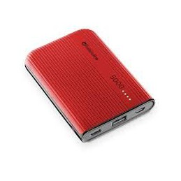 CARICABATTERIA EMER.5000 USB-C ROSSA