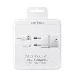 CARICABATTERIE DA RETE FAST CHARGER 15W USB TYPE-C BIANCO