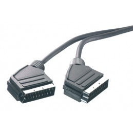 CAVO SCART/SCART 21P CABLATI 1,2M NERO