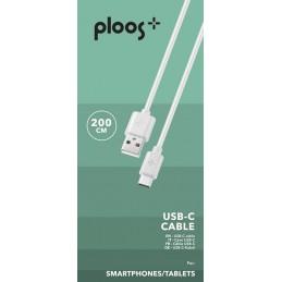 CAVO USB 2M USB-C BIANCO