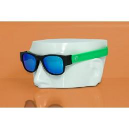 CLACK  BLACK/GREEN POLARIZED GREY LENS CAT. 3 UV400 Polarizzate antiriflesso effetto specchioProtezione raggi UV-A UV-B