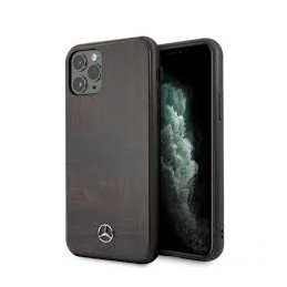 COVER LEGNO MERCEDES BENZ IPHONE 11  MARRONE SCURO
