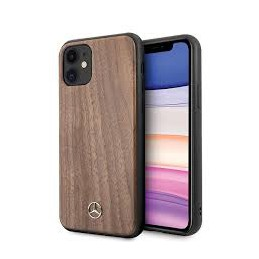 COVER LEGNO MERCEDES BENZ IPHONE 11 MARRONE