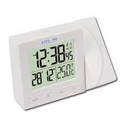 Orologio a proiezione dell\'ora e a 180 gradi c white