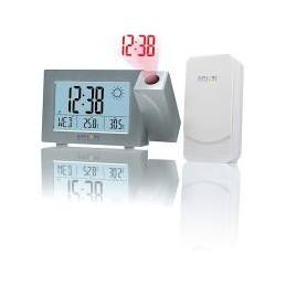 Orologio a proiezione radiocomandato Previsioni del tempo e della temperatura interna e esterna