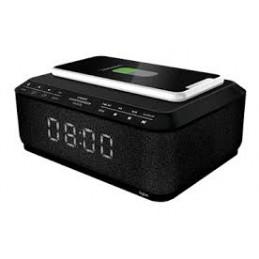 RADIOSVEGLIA CON CARICA WIRELESS dotata di radio FM: scansione automatica con 20 stazioni memorizzabili, porta USB per ricaricar