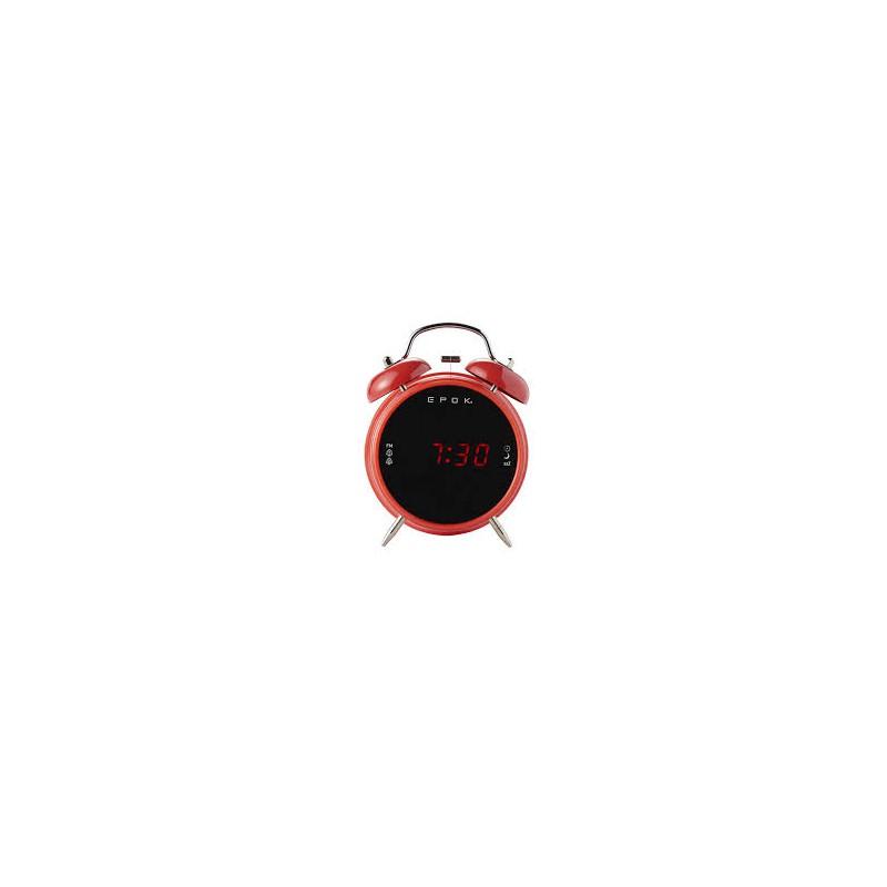 Radiosvelgia: Radio FM, Doppio Allarme,Regolatore di luminosità,nap,Sleep&Snooze. Alimentatore 230V & Batteria di backup 2xLR03A