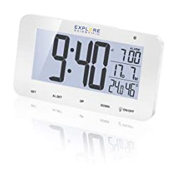 Sveglia da tavolo radiocomandata Visualizzazione della temperatura e dell\'umidità interna