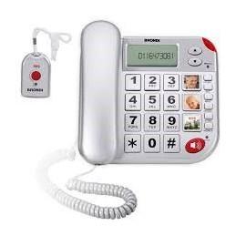 TELEFONO CON TELECOMANDO PER CHIAMATE DI SOCCORSO COMPATIBILE CON APPARECCHI ACUSTICI