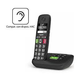 TELEFONO CORDLESS CON SEGRETERIA TASTI GRANDI NERO