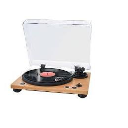 Giradischi Bluetooth® uscita RCA,2 velocità (33/45 rpm)Controllo equilibrio del braccio Finiture in legno,Puntina audio technica