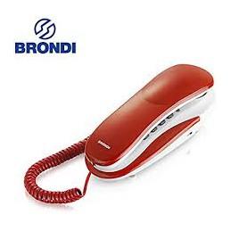 TELEFONO FISSO GONDOLA BRONDI KENOBY GRIGIO e ROSSO