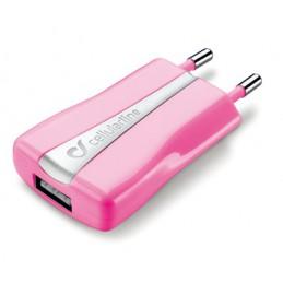 CARICABATTERIA DA RETE USB CHARGER ROSA
