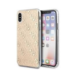 COVER GUESS IPHONE XS MAX GOLD LOGO