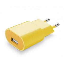CARICABATTERIA DA RETE USB 1A GIALLO