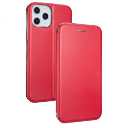 CUSTODIA BOOK MAGNETICA CON STAND PORTA CARTE DI CREDITO IPHONE 12 PRO MAX RED
