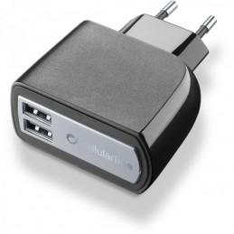 CARICABATTERIA RETE 3A DUAL USB TAB