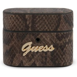 COVER GUESS AIRPODS PRO EFFETTO SNAKE BROWN