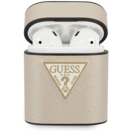 COVER GUESS SATINATA GOLD PER AIRPODS 1/2