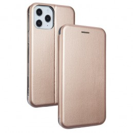 CUSTODIA BOOK MAGNETICA CON STAND PORTA CARTE DI CREDITO IPHONE 12 E 12 PRO ROSE GOLD