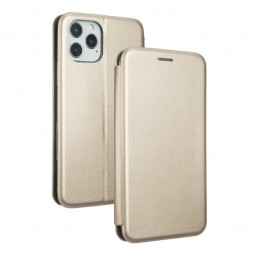 CUSTODIA BOOK MAGNETICA CON STAND PORTA CARTE DI CREDITO IPHONE 12 mini GOLD