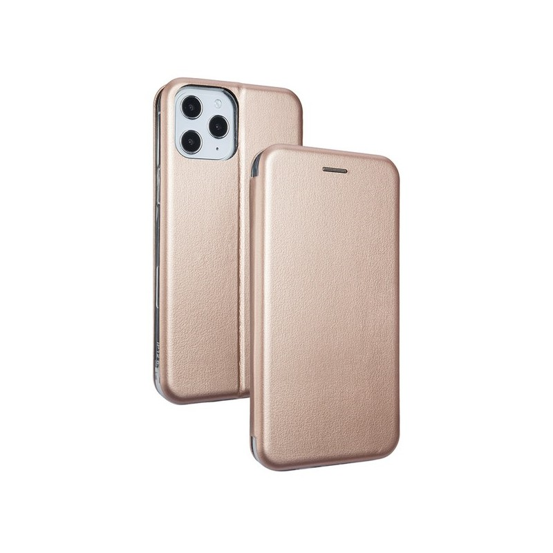 CUSTODIA BOOK MAGNETICA CON STAND PORTA CARTE DI CREDITO IPHONE 12 PRO MAX ROSE GOLD