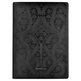 Semi-universal Folio Case Christian Lacroix for Tablets Paséo Collection, elastic Moleskin closing, Black