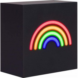 SPEAKER BLUETOOTH CON GRAFICA ARCOBALENO IN NEON E SPEAKER BLUETOOTH DA 15W di potenza