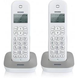 TELEFONO CORDLESS DOPPIO GALA TWIN BIANCO GRIGIO