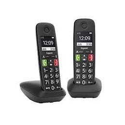 TELEFONO CORDLESS DUO GIGASET E290 NERO
