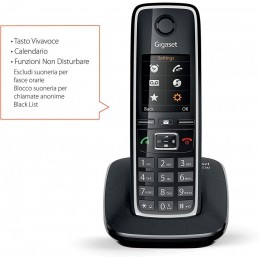 TELEFONO CORDLESS GIGASET NERO