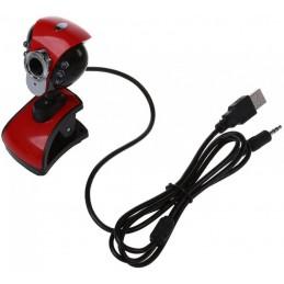 WebCam 200 USB 6 Led per la visione notturna, microfono.Risoluzione: 50 mega