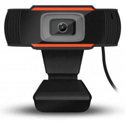 Webcam PC videocamera Live Streaming HD 480p Telecamera PC con Microfono Stereo USB