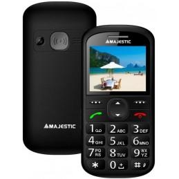 TELEFONO SENIOR GSM SOS CON DISPLAY 2,2 FOTOCAMERA TORCIA LED BASE RICARICA NERO