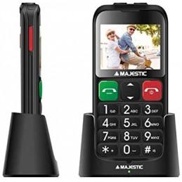 TELEFONO SENIOR GSM SOS CON DISPLAY 2,31 FOTOCAMERA CON FLASH LED DOPPIA TORCIA LED BASE RICARICA