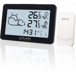 Previsioni del tempo con temperatura e umidità interna e esterna