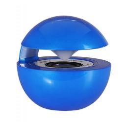 LED BALL SPEAKER BLUETOOTH MICRO SD BLUE