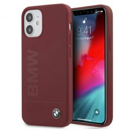 COVER BMW IN SILICONEE IPHONE 12 mini  ROSSA