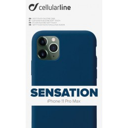 COVER SOFT TOUCH IPHONE 11 PRO MAX BLU