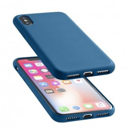 COVER SOFT TOUCH IPHONE X / XS BLU