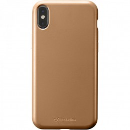 COVER SOFT TOUCH IPHONE XR METAL BRONZO