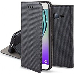 CUSTODIA BOOK MAGNETICA PER MOTOROLA E 4 PLUS BLACK