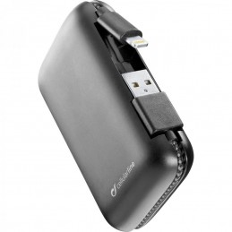 POWERBANK 5000mah CON CAVO LIGHTINING MFI INCLUSO NERO