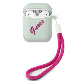 COVER GUESS AIRPODS 1/2 SILICONE VERDE