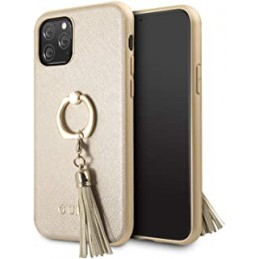 COVER GUESS IPHONE 11 PRO BEIGECON ANELLO GOLD