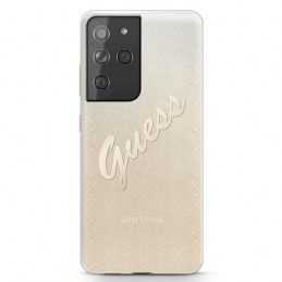 COVER GUESS SAMSUNG GALAXY S21  ULTRA GLITTER GOLD