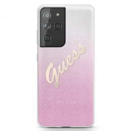 COVER GUESS SAMSUNG GALAXY S21  ULTRA GLITTER PINK