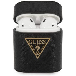 COVER GUESS SATINATA  BLACK PER AIRPODS 1/2