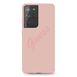 COVER GUESS SILICONE SOFT TOUCH GALAXY S21 ULTRA ROSA