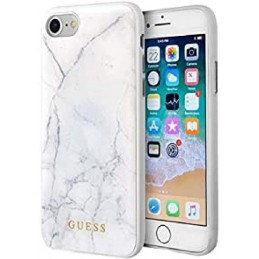 COVER IPHONE 6/66/7/8/SE ( 2020) GUESS EFFETTO MARMO WHITE
